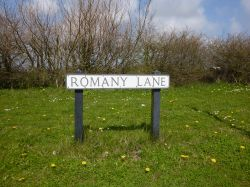 Road Sign to the Romany Camp