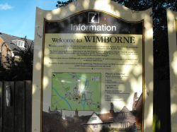 Wimborne Minster interpretive sign