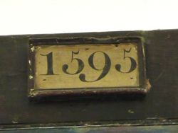 Date on one of the Church beams