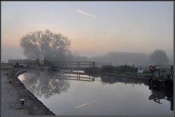 Alrewas Lock at sunrise