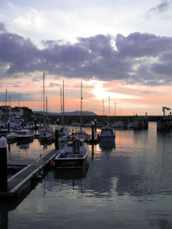 Sunset over Watchet Harbour