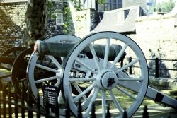One of the Cannons along the wall. Wallpaper
