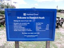 Dunwich Heath Welcome Board