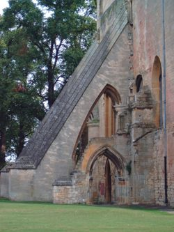 Buttress at Pershore Abbey