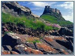 Lindisfarne Castle view.