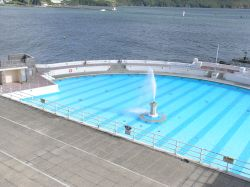 Restored Art Deco swimming pool at Tinside on Plymouth Hoe