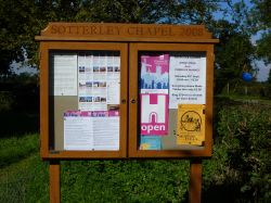 Notice board for the Chapel