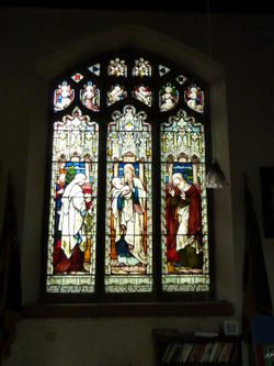Stained Glass Window in the Church.