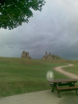 Strange light at Sandal Castle
