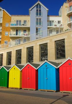 Beach huts in Boscombe