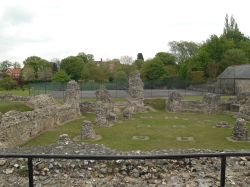 Bury St Edmunds, ruins of the old Abbey
