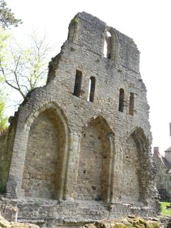 Ruins of Cluniac Priory of St Milburga in Much Wenlock