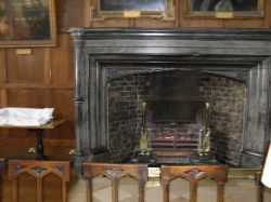 The fireplace associated with 'Alice in Wonderland'