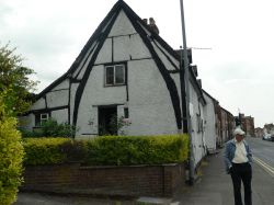 A rare house with cruck-framing in Ledbury