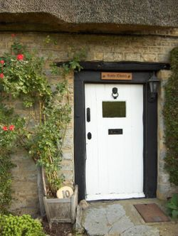 Little Thatch Cottage, front door
