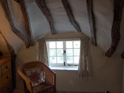 Little Thatch Cottage, bedroom sitting area Wallpaper