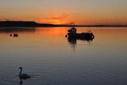 Sunset at Mudeford Quay