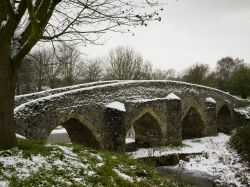 Packhorse Bridge at Moulton near Newmarket, Suffolk.