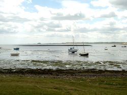 Bamburgh Castle from Lindisfarne