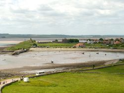 Lindisfarne Priory from Castle