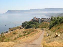 Robin Hoods Bay seen from Hill Top leading down into village