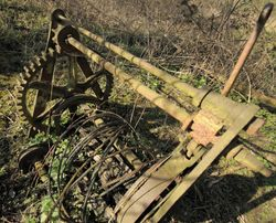 Abandoned Victorian winch, Fenny Compton, Warwickshire