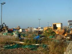Hastings Fishermens yard.