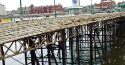 Blackpool pier...a bit tatty!