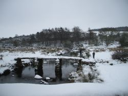 2nd Winter picture of Postbridge Clapper.