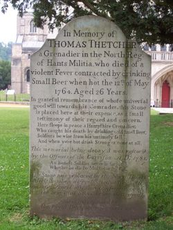 Memorial to Thomas Thetcher