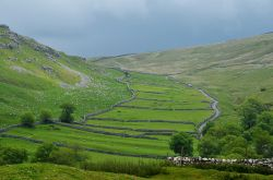 Field system with drystone walls near Malham, Yorkshire