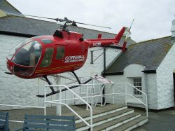 Retired Rescue Helicopter at Land's End