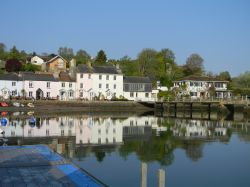 Dittisham as seen from the River Dart