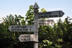 Signpost near Luccombe