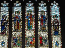 Bath Abbey - Old Testament figures in stained glass