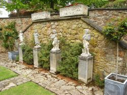 Feature in gardens at Brobury House