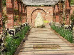 Detail of gardens at Brobury House