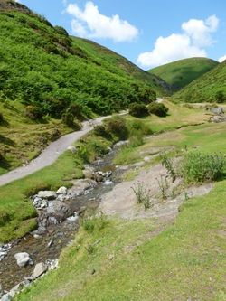 Heading up the Long Mynd