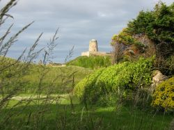 Glimpse of Bamburgh Castle