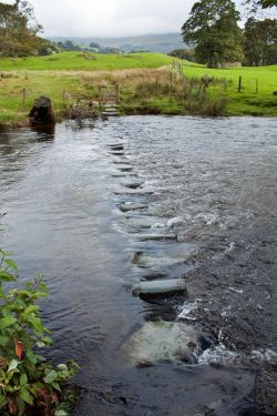 River Rothay stepping stones