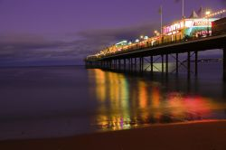 Paignton pier at dusk