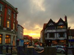 Sundown on Bridge Street