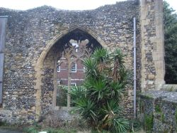 The ruins of the Abbey Infirmary