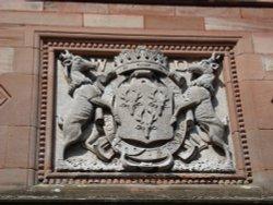 Cavendish crest above the front door
