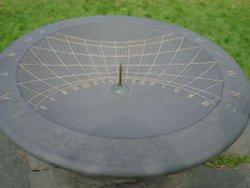 Slate sundial