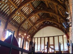 Banqueting Hall and its original roof timbers.