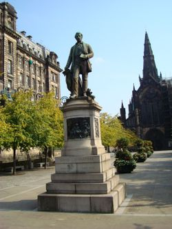 The statue of David Livingstone