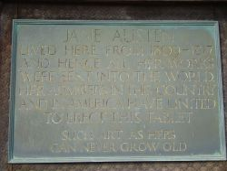 Commemorative plaque on Jane Austen's House