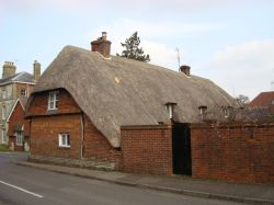 Thatched cottage in Winchester Road