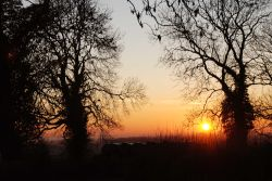 Sunset over Hollington, Derbyshire